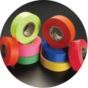 Different colored tape
