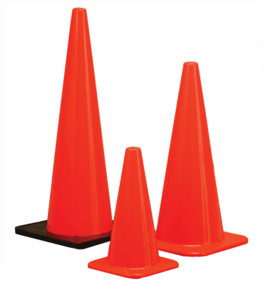 Orange safety cones
