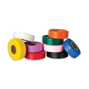 Flagging tape in a variety of standard colors.