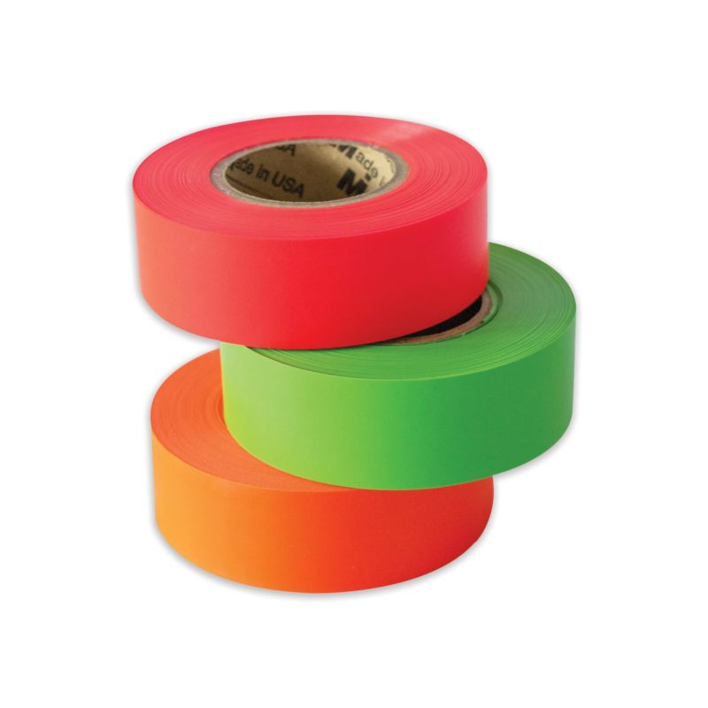 Fluorescent pink, lime, and orange tundra tape