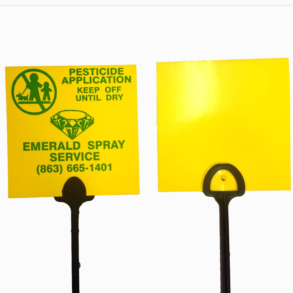Yellow BMC value marking sign